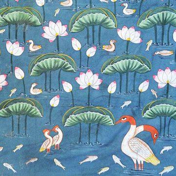 Lotus Pichwai Painting