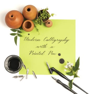 Modern Calligraphy with Pointed Pen