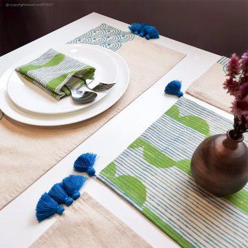 Block Printing on Table Linen
