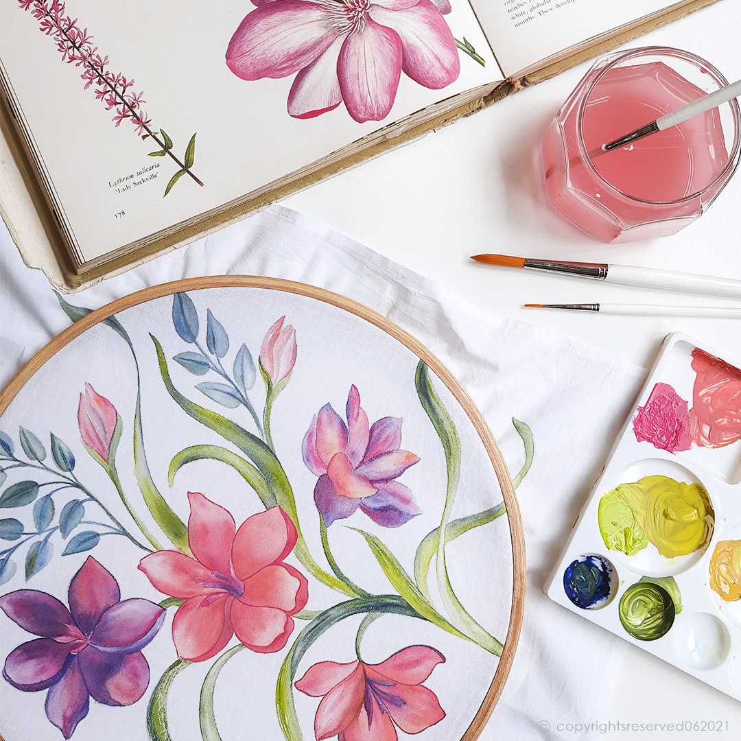 Cotton Fabric Painting