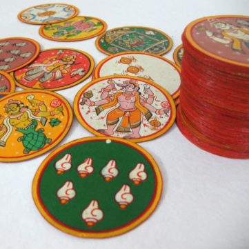 Pattachitra Painting on Ganjifa Card