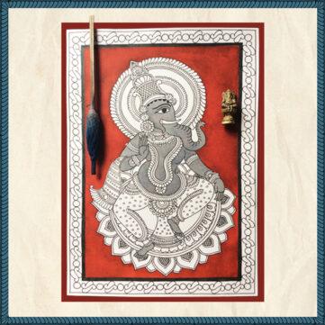Kalamkari Painting (Ganesha)