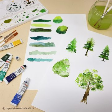 Water Colour (Trees)