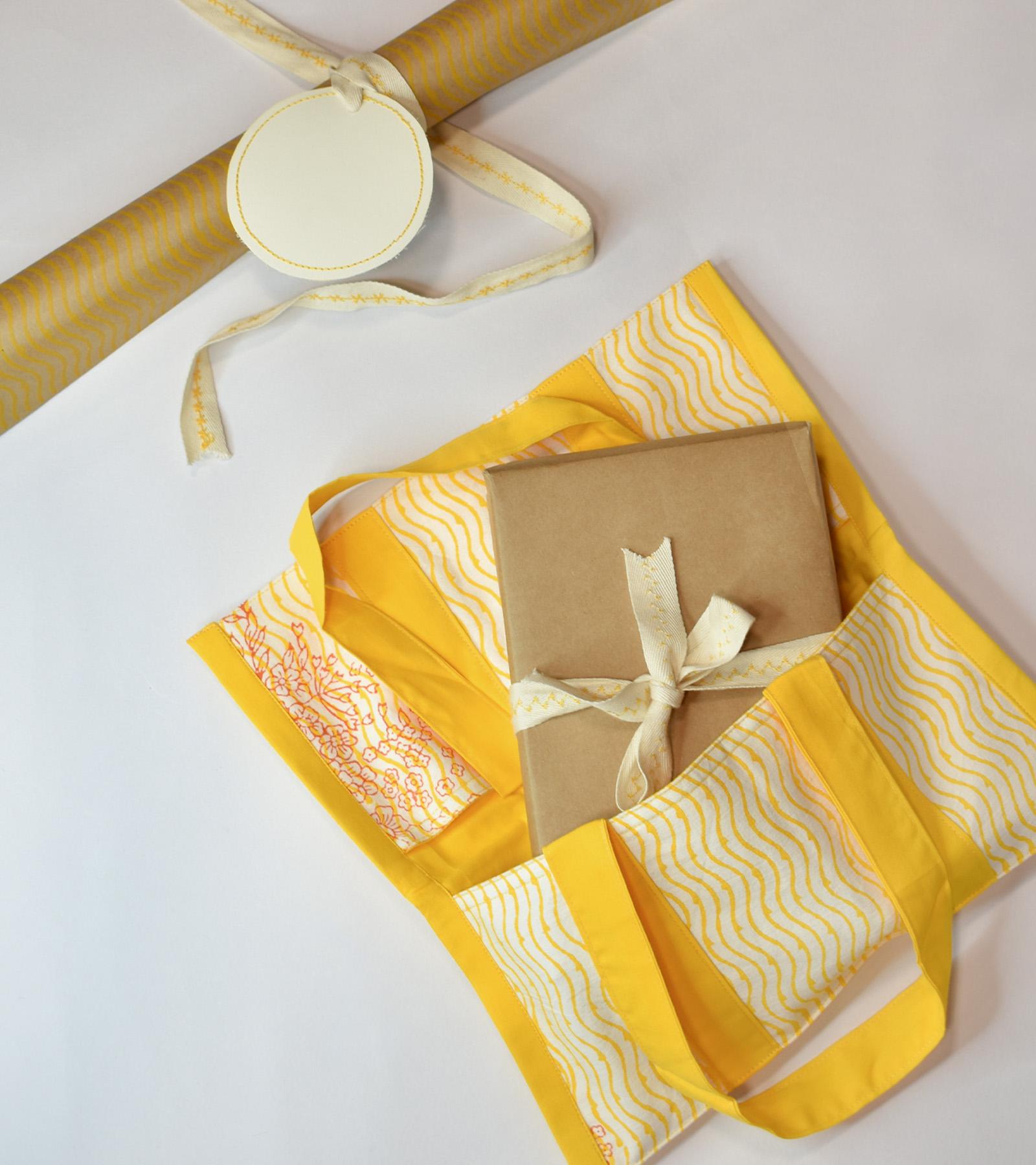 Yellow Wave Gift Bag